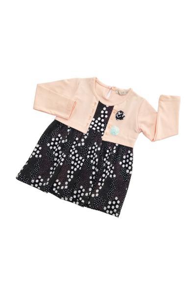 لباس مجلسی نوزاد دخترانه ترکیه برند Via Girls رنگ بژ کد ty34889514