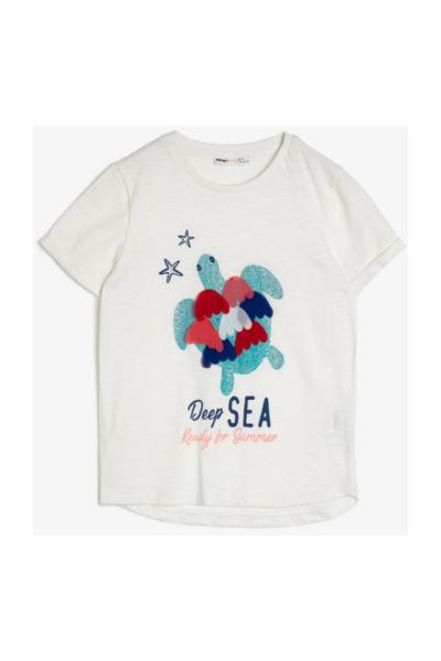خرید نقدی تیشرت دخترانه برند Koton Kids رنگ بژ کد ty35135781