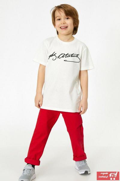 شلوار پسرانه ارزان برند Koton Kids رنگ قرمز ty35153433