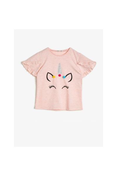 خرید انلاین تیشرت دخترانه ترکیه برند Koton Kids رنگ صورتی ty35153445