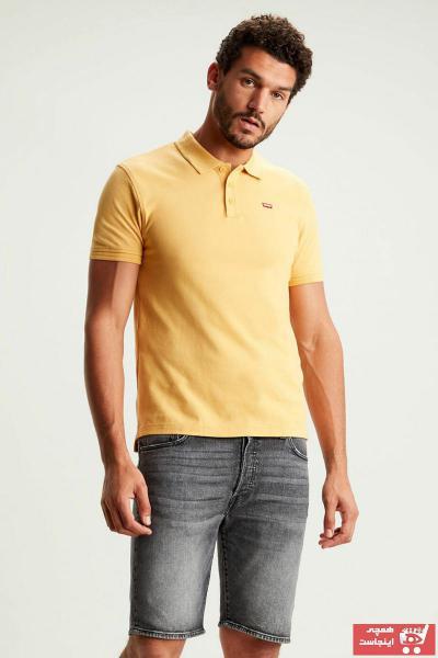 فروشگاه تی شرت مردانه سال 1400 برند Levis رنگ زرد ty35430187