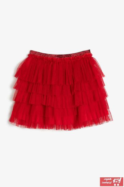 خرید انلاین دامن دخترانه فانتزی برند Koton Kids رنگ قرمز ty35448975