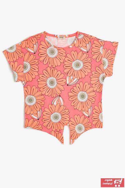 تیشرت دخترانه کوتاه برند Koton Kids رنگ صورتی ty35449019