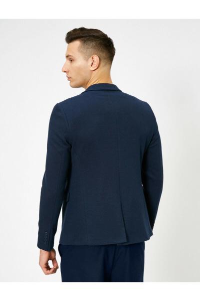 خرید اینترنتی ژاکت جین بلند برند کوتون رنگ لاجوردی کد ty35526922
