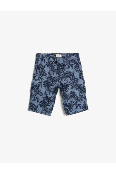 خرید انلاین شلوارک جدید بچه گانه شیک برند Koton Kids رنگ آبی کد ty35588862