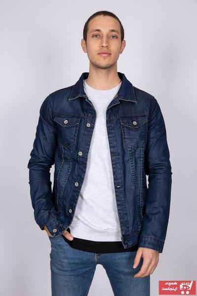 خرید انلاین ژاکت جین مردانه جدید برند MY LIFE رنگ لاجوردی کد ty35638599
