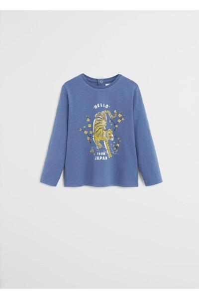 سفارش انلاین سویشرت ساده برند مانگو رنگ آبی کد ty35695583
