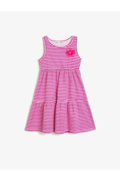 پیراهن ساده برند Koton Kids رنگ صورتی ty35814204