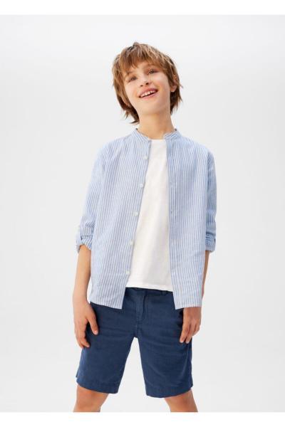 پیراهن پسرانه کوتاه برند منگو رنگ آبی کد ty35870168