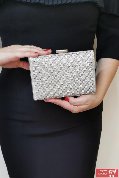 کیف مجلسی زنانه اصل ارزان برند NAZART رنگ نقره کد ty35909345