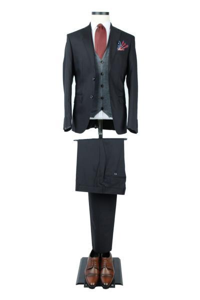 خرید کت شلوار مردانه ست برند Centone رنگ مشکی کد ty3628169