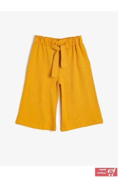 خرید پستی شلوار دخترانه فانتزی برند Koton Kids رنگ زرد ty36403742