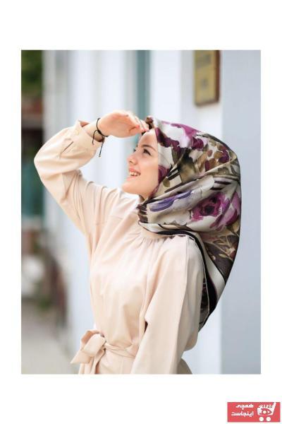 روسری فانتزی برند Silk Home رنگ بنفش کد ty36431094