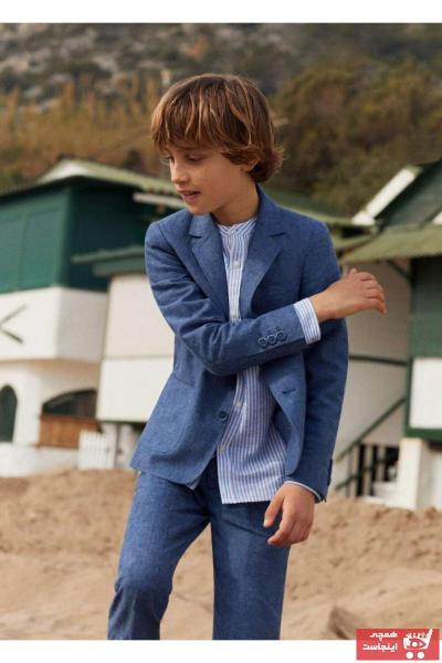 شلوار پسرانه شیک و جدید برند مانگو رنگ آبی کد ty36869678
