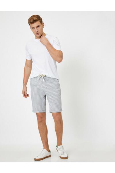 شلوارک مردانه اورجینال برند کوتون رنگ نقره ای کد ty36903906