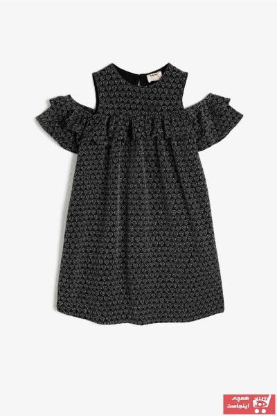 حرید اینترنتی پیراهن دخترانه ارزان برند Koton Kids رنگ مشکی کد ty37208536