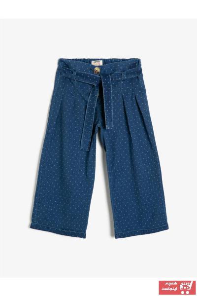 شلوار جین بچه گانه دخترانه ساده برند Koton Kids رنگ آبی کد ty37243257