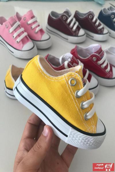 خرید اسان کفش اسپرت بچه گانه دخترانه فانتزی برند TREND رنگ زرد ty37302004