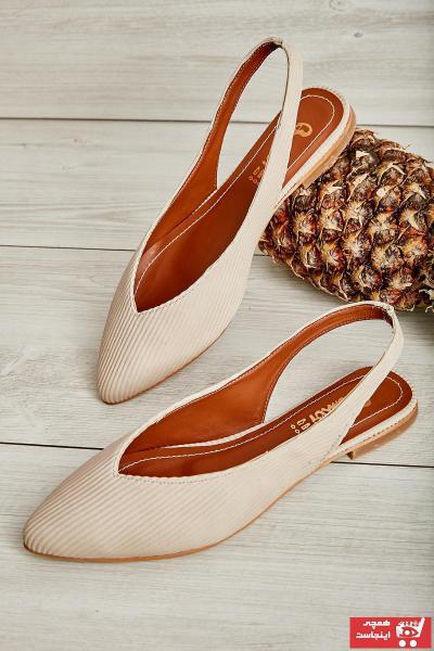 کفش تخت زنانه زیبا برند بامبی رنگ بژ کد ty37309412