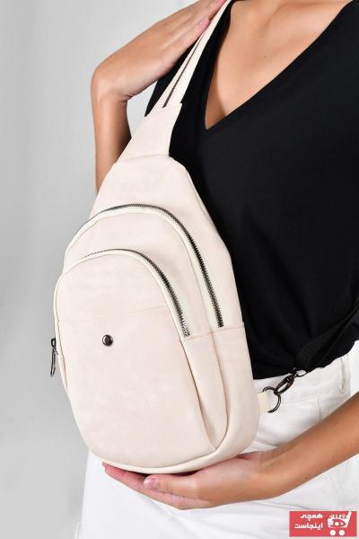 خرید ارزان کیف کمری زنانه برند Bagzone رنگ بژ کد ty37673571