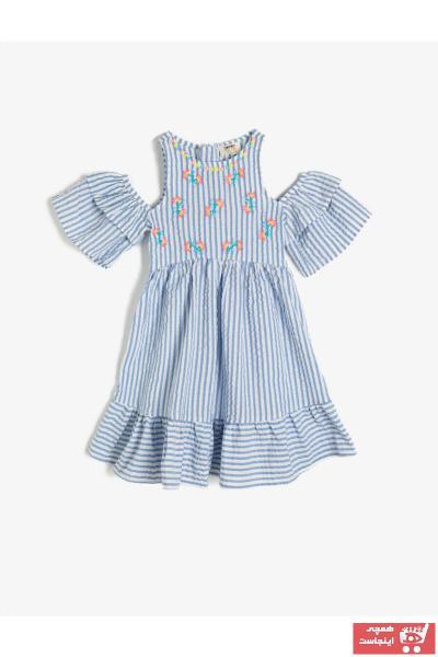 پیراهن دخترانه ترک برند کوتون رنگ آبی کد ty39432856