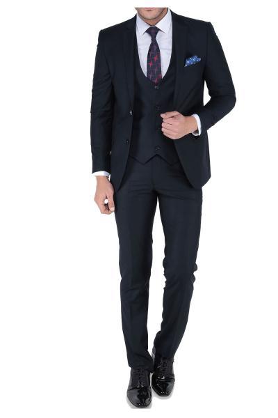 کت شلوار جدید مردانه اصل برند carismen رنگ لاجوردی کد ty40129141