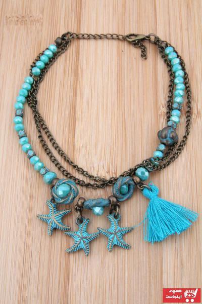 خرید انلاین پابند جدید زنانه شیک برند Pelin Aksesuar رنگ آبی کد ty40197118