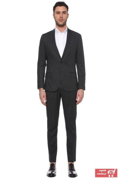 کت شلوار مردانه مدل برند Network رنگ نقره ای کد ty40647306