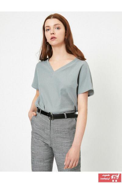 فروش تیشرت زنانه فانتزی برند کوتون رنگ نقره ای کد ty41142951