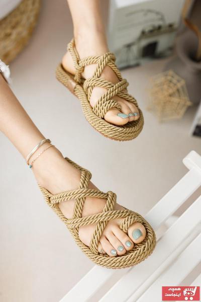 فروشگاه صندل اورجینال برند meyranın ayakkabıları رنگ طلایی ty41665310