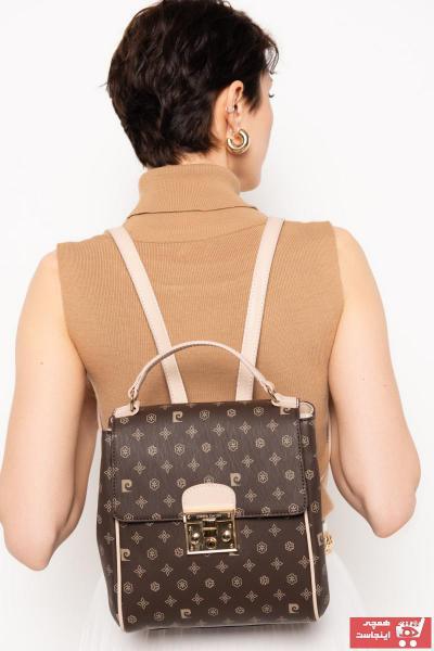 کوله پشتی زنانه مدل مارک پیرکاردن رنگ قهوه ای کد ty41943707