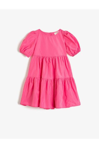 خرید نقدی پیراهن دخترانه فروشگاه اینترنتی برند کوتون رنگ صورتی ty42198937