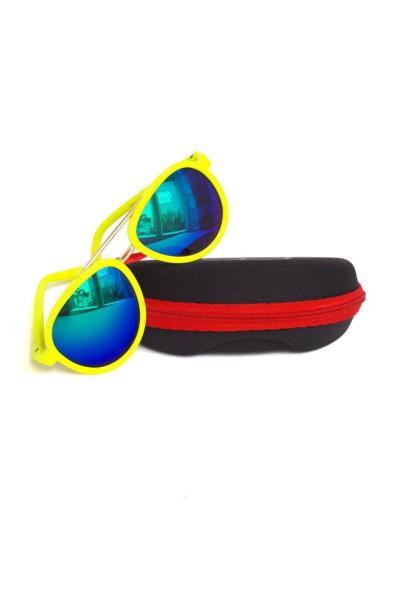 عینک آفتابی بچه گانه دخترانه حراجی برند Chisenti رنگ زرد ty42220173