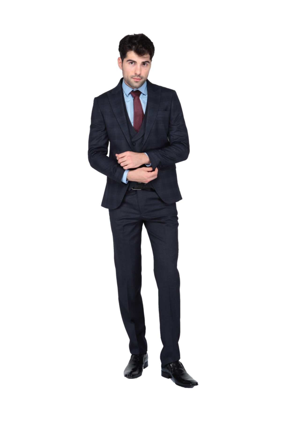 کت شلوار مردانه اسپرت برند Yenirengin رنگ لاجوردی کد ty42353210