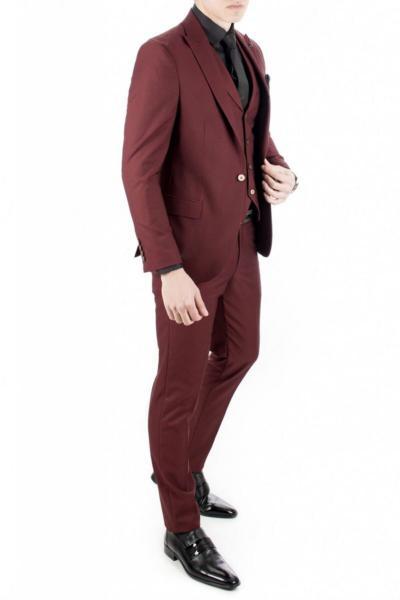 خرید کت شلوار غیرحضوری برند دیپسی رنگ زرشکی ty4281610