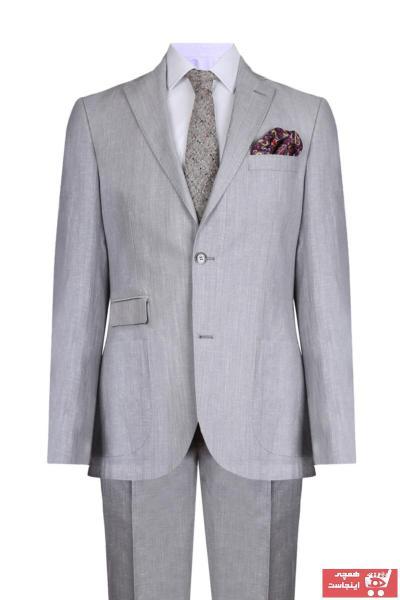 کت شلوار مردانه برند W Collection رنگ نقره ای کد ty42943446