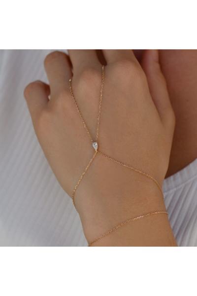 فروشگاه دستبند انگشتی زنانه تابستانی برند EnginGold رنگ طلایی ty43140176