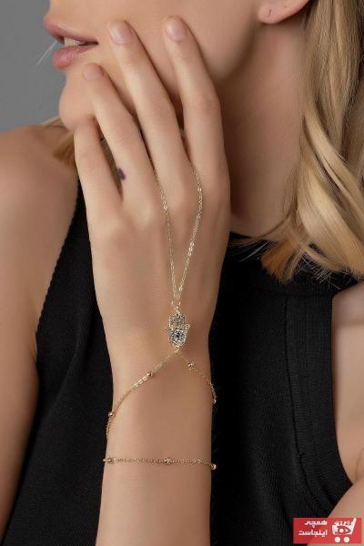 دستبند انگشتی زنانه اسپرت برند Modex رنگ طلایی ty43473310