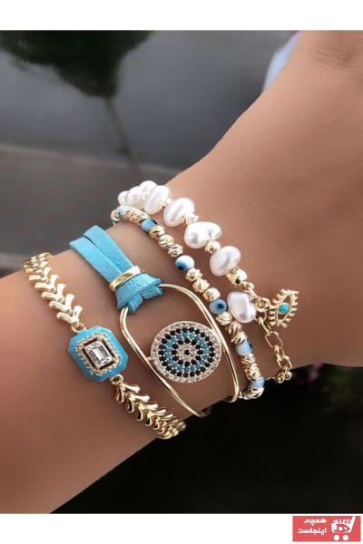 دستبند مردانه ارزان برند AychaAksesuar رنگ آبی کد ty43499150