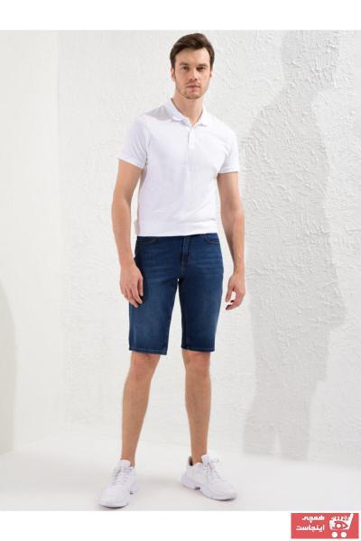 خرید انلاین شلوارک اورجینال مردانه مارک ال سی وایکیکی رنگ لاجوردی کد ty44743160