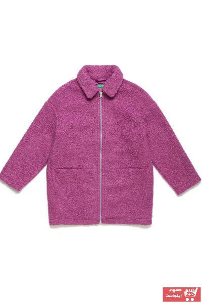 کاپشن دخترانه شیک و جدید برند United Colors of Benetton رنگ بنفش کد ty45281706