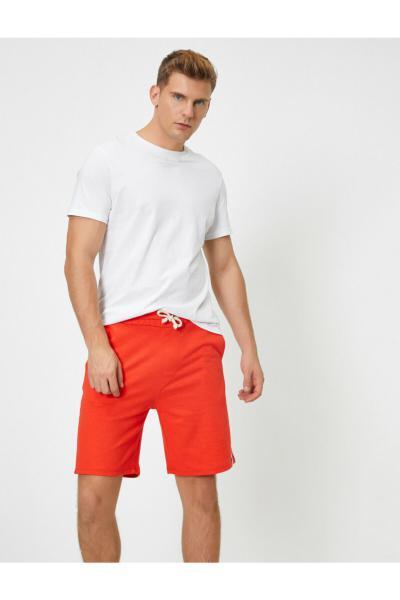خرید اینترنتی شلوارک مردانه از استانبول برند کوتون رنگ نارنجی کد ty45786683
