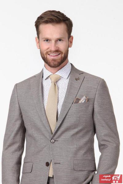 کت شلوار خاص مردانه برند Ramsey رنگ قهوه ای کد ty4598661