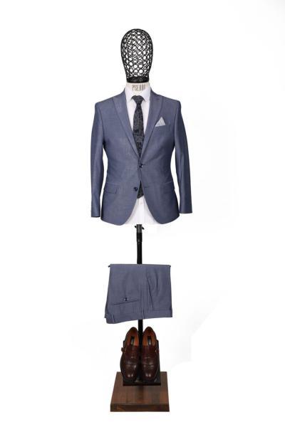 فروش نقدی کت شلوار مردانه خاص برند PİSERRO رنگ آبی کد ty46041650