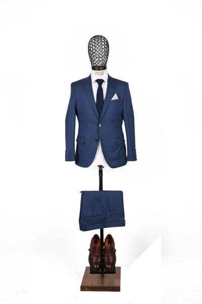 کت شلوار مردانه ترکیه برند PİSERRO رنگ آبی کد ty46042545
