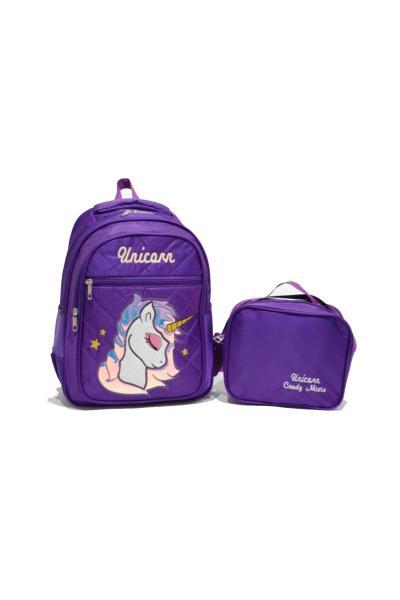 فروش کیف مدرسه بچه گانه دخترانه 2021 برند TİGRAN رنگ بنفش کد ty46042683