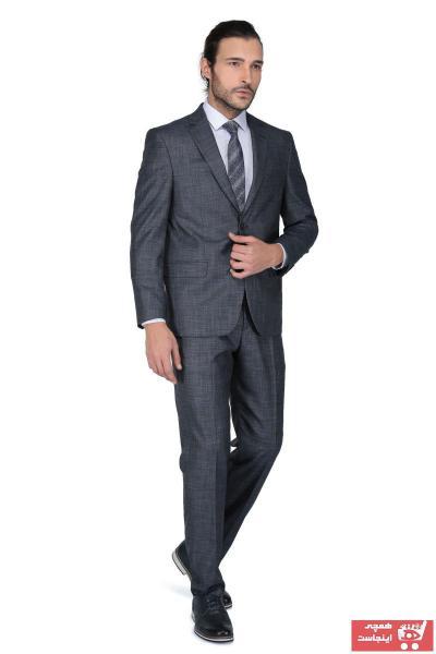 کت شلوار مردانه جدید برند Buenza رنگ نقره ای کد ty4626822