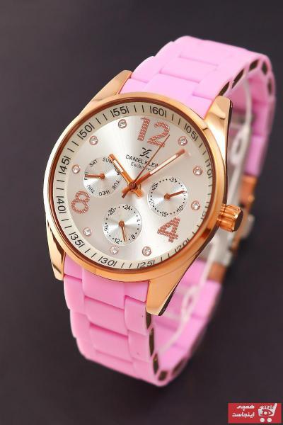 سفارش ساعت مچی زنانه لوکس اصل برند Daniel Klein رنگ صورتی ty46355651
