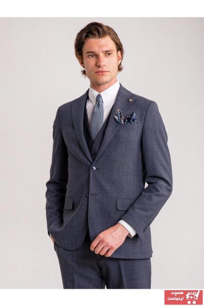 کت شلوار بلند برند Dufy رنگ لاجوردی کد ty46719072