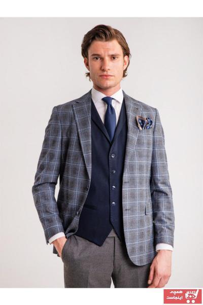 کت شلوار مردانه ارزان برند Dufy رنگ آبی کد ty46725626